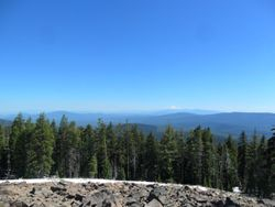 View of Mt. Shasta from Crater Mt.