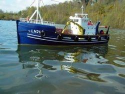 Transom stern trawler Hull