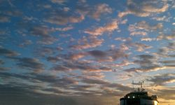 The evening sky at Woods Hole SSA terminal II