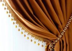 Gold Faux Silk Taffeta Blackout Curtains Panel