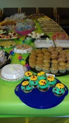 Beautiful table of baked goodies!