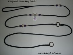 Black choker lead with dangles!