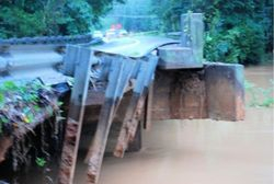 Washed out bridge on Capps Ferry Road Near Hwy 92