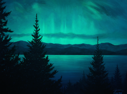 Aurora Over Lake Pend Oreille / 2017