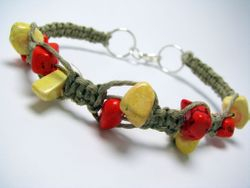 Howlite Dyed in Orange in Yellow