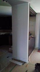 muret de cuisine avant travaux