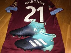 Angelo Ogbonna worn, signed and personalised