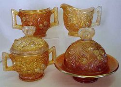 Acorn Burrs 4pc. table set, marigold