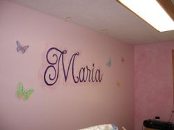 Marias Room, with flying butterflies