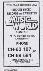 Music World Advert 1985