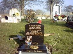 Small black granite cremation headstone