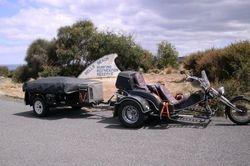 Trike & Camper at Bells Beach