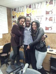 Jasmine Guy, Morris & Demetria McKinney At 'Jazz 91.9 WCLK' Radio Station On November 15, 2012