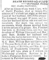 Fletcher, Clara Barr 1890