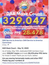 May 12th Mask Count - 329,047 Masks Made