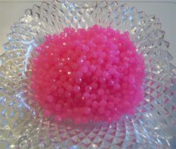 Pink Faceted Beads