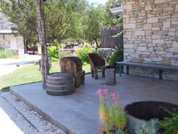 Front porch at Dry Comal Creek Vineyards