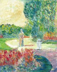 Childe Hassam Parc Monceau by Monet