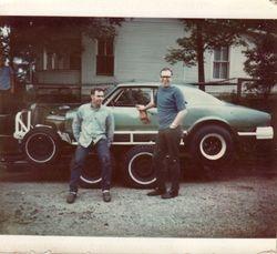 Dave White Sr and Sherman White 1971