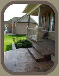 Front Porch with Steps and Flower Bed Curb