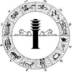 Dendera zodiac wheel