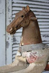 #25/183 FRENCH WOODEN HORSE DETAIL