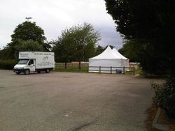 Marquee at Southend RFC ground