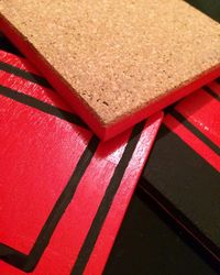 Linear Red and Black_Coasters