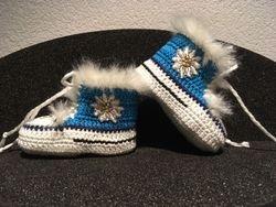 "Babyschuhe ""Edelweiss"" blau"