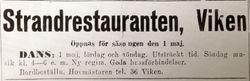 Strandrestauranten i Viken 1942