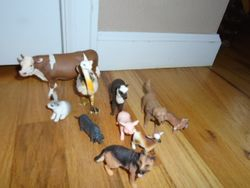 Farm Animals Set- Hard Plastic - $5