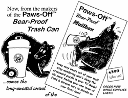Paws-Off Bear Proof Cans