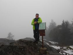 Vic on top of Mt Finlayson 2013