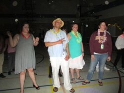 Other teachers getting in the groove with the kids