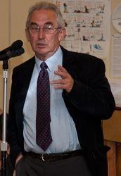 Aylwyn Powell speaks for the fundraising group