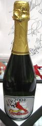 2004 Central Division Champions Full Champayne Bottle Signed By Albert Pujols