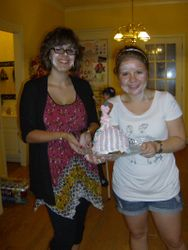 Marie and Courtney baked Naomi a beautiful cake!