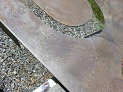 Acid wash rust patina on steel