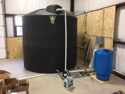 water storage tank for better pressure and emergency