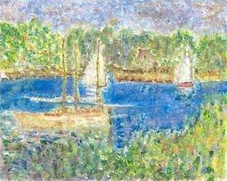 Interpretation of Bassin d' Argenteuil by Monet