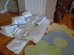 Linen Set for Double Bed- Flowers- COMPLETE by JC Penney - $35