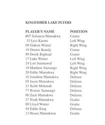 Kingfisher Lake Flyers