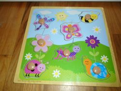 Insects Wooden Peg Puzzle (7 pcs) - $8