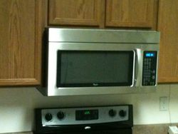 microwave install