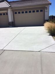 Power washed driveway