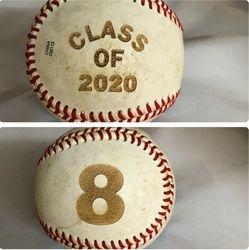 Laser Engraved Baseball