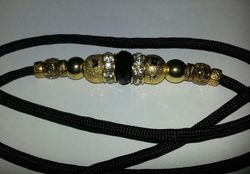 Black and gold with Diamonte!