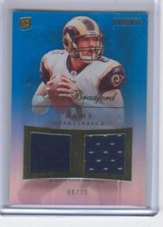 SAM BRADFORD DUAL JERSEY 8/30 JERSEY NUMBER TOPPS TRIBUTE ROOKIE