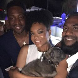 Dwayne Wade, Demetria McKinney and Krish Sidu attend Design Care
