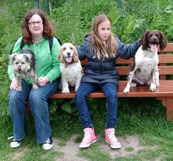 Poppy, Sarah, me, Charlotte and Toto
